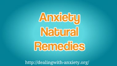 anxiety natural remedies