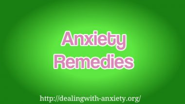 anxiety remedies