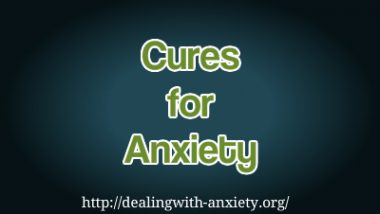 cures for anxiety