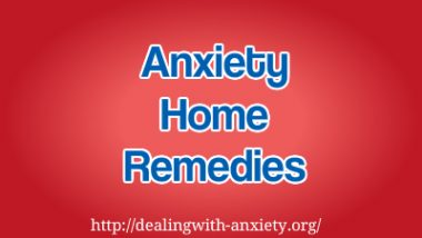 anxiety home remedies