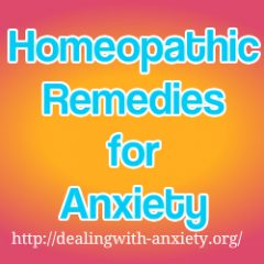 homeopathic remedies for anxiety
